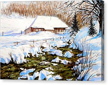 Clubhouse In Winter Canvas Print
