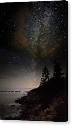 Clutching The Galaxy Canvas Print by Brent L Ander