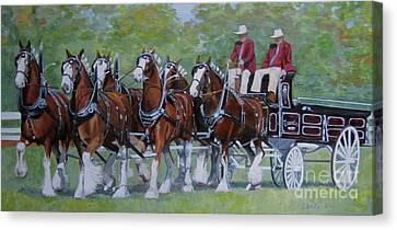 Clydesdale Hitch Canvas Print by Anda Kett
