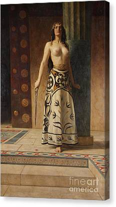 Collier Canvas Print - Clytemnestra by John Collier