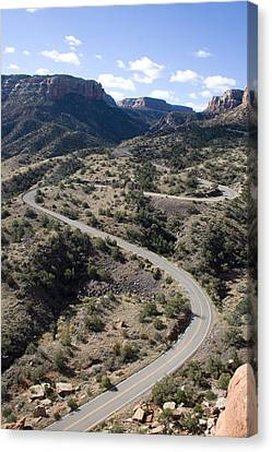 Cnm Switchbacks Full Color Canvas Print by Dylan Punke