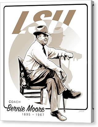 Coach Bernie Moore Canvas Print by Greg Joens