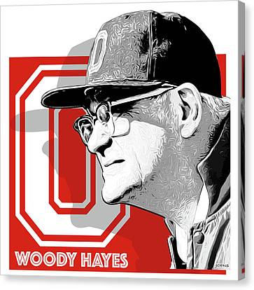 Woodies Canvas Print - Coach Woody Hayes by Greg Joens