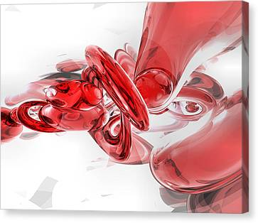 Coagulation Abstract Canvas Print by Alexander Butler