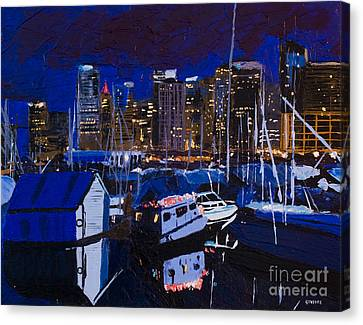 Coal Harbour Canvas Print by Ginevre Smith
