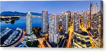 North Vancouver Canvas Print - Coal Harbour In Vancouver by Alexis Birkill