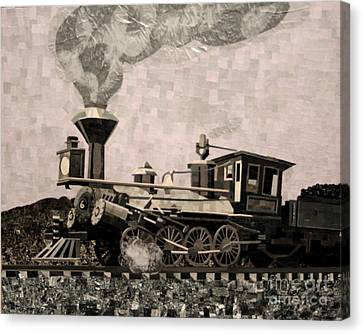 Coal Train To Kalamazoo Canvas Print by Kerri Ertman