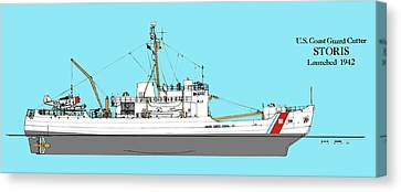 Coast Guard Cutter Storis Canvas Print by Jerry McElroy