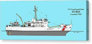 Kodiak Canvas Print - Coast Guard Cutter Storis by Jerry McElroy