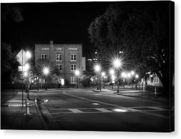 Crosswalk Canvas Print - Coast Line Center At Night by Greg Mimbs