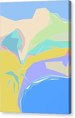 Coast Of Azure Canvas Print
