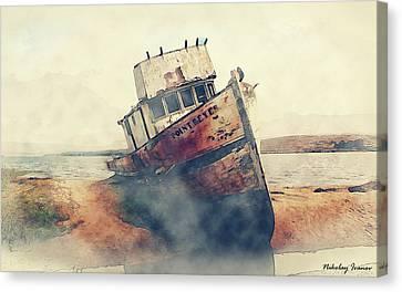 Coast Painting-17 Canvas Print by Nikolay Ivanov
