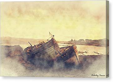 Coast Painting-forgotten-01 Canvas Print by Nikolay Ivanov