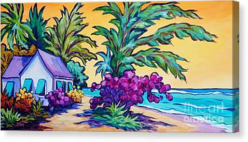 Tropical Colors Stain Glass Canvas Print - Coast Road Home by John Clark