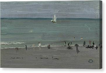 Coast Scene, Bathers Canvas Print by James Abbott McNeill Whistler