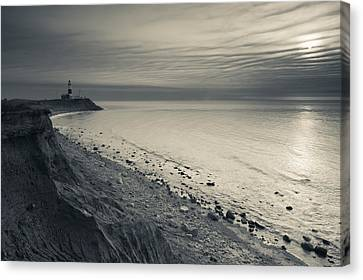 Coast With A Lighthouse Canvas Print