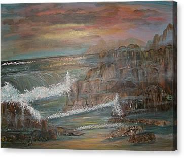 Coastal Brillancy Canvas Print by Mikki Alhart