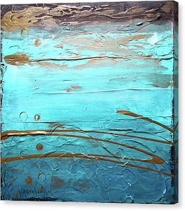 Coastal Escape I Textured Abstract Canvas Print