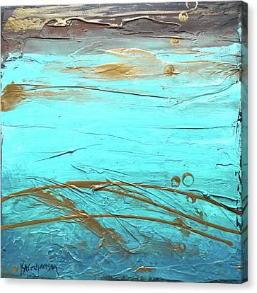 Coastal Escape II Textured Abstract Canvas Print
