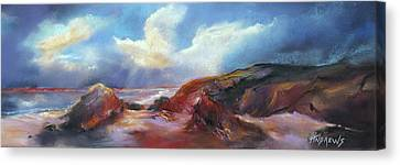 Coastal Glow Canvas Print by Rae Andrews