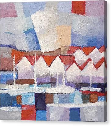 Coastal Houses Canvas Print by Lutz Baar