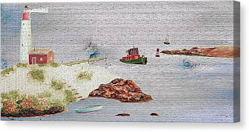 Coastal Lighthouse Canvas Print by Ken Figurski