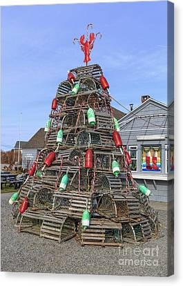 Bouys Canvas Print - Coastal Maine Christmas Tree by Edward Fielding