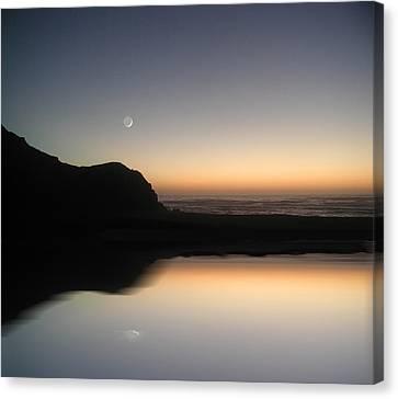 Coastal Moon Canvas Print