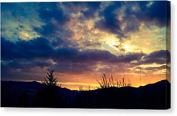 Coastal Mountain Sunrise X Canvas Print