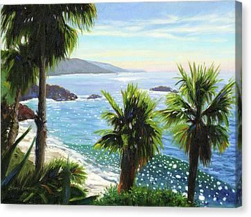 Coastal Palms Canvas Print