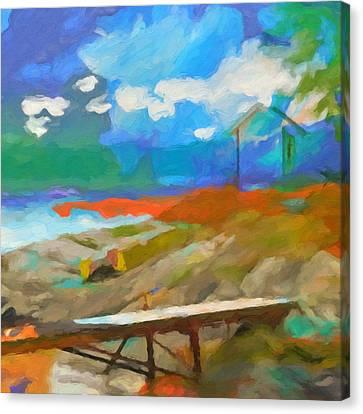Coastal Square Canvas Print by Lutz Baar