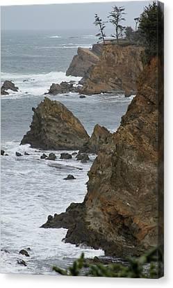 Coastal Storm Canvas Print by Laddie Halupa