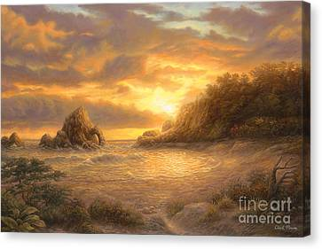 Coastal Sunset Canvas Print by Chuck Pinson