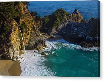 Coastal Waterfall Canvas Print by Garry Gay