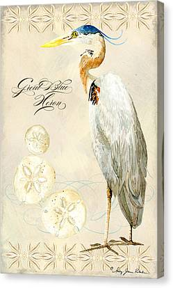 Great Blue Heron Canvas Print - Coastal Waterways - Great Blue Heron by Audrey Jeanne Roberts