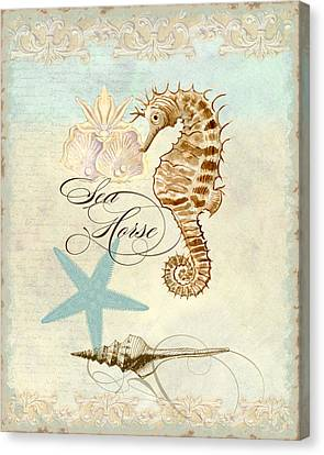 Coastal Waterways - Seahorse Rectangle 2 Canvas Print by Audrey Jeanne Roberts