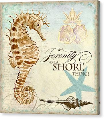 Coastal Waterways - Seahorse Serenity Canvas Print by Audrey Jeanne Roberts