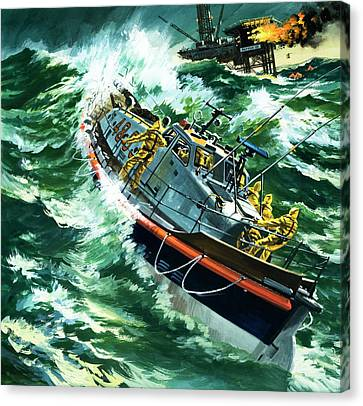 Coastguard Lifeboat Canvas Print