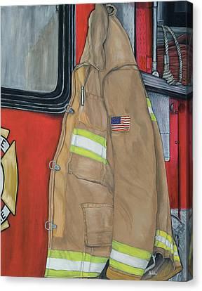 Coat Of Courage U.s. Canvas Print by Bobbi Whelan