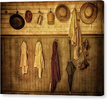 Coat Room At The Old Schoolhouse Canvas Print