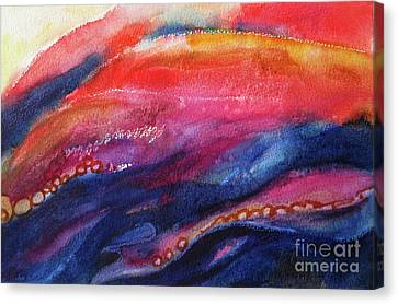 Canvas Print featuring the painting Coatings And Deposits Of Color by Kathy Braud