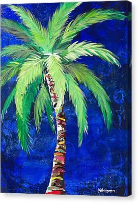 Cobalt Blue Palm II Canvas Print