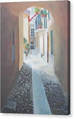 Cobblestone Alley Canvas Print