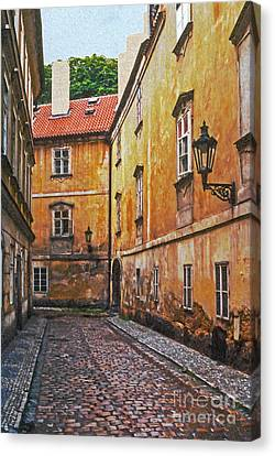 Cobblestone Passageway 4 Canvas Print by Bob Phillips