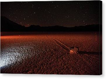Canvas Print featuring the photograph Cobblestones On The Racetrack Playa by Peter Thoeny