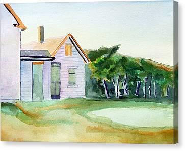 Cobb's House After Edward Hopper Canvas Print