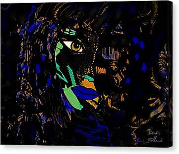 Yellow Cobra Canvas Print - Cobra Woman by Natalie Holland