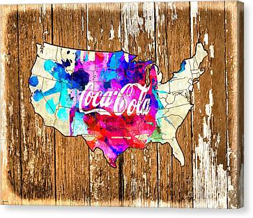 Coca Cola America Canvas Print