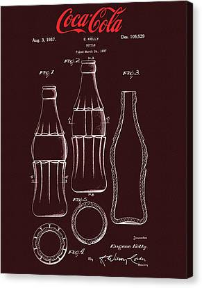 Coca Cola Bottle Design Canvas Print