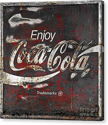 Coca Cola Grunge Sign Canvas Print